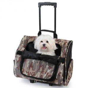 sac de transport à roulettes pour chien